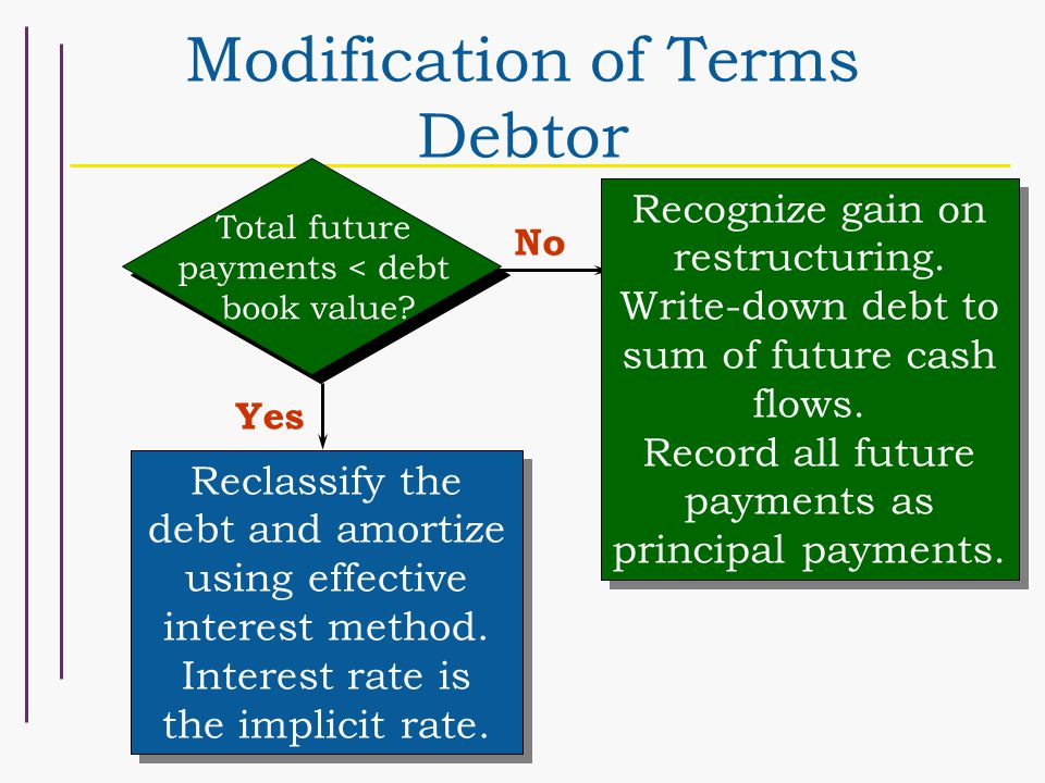 Modification of Terms Debtor
