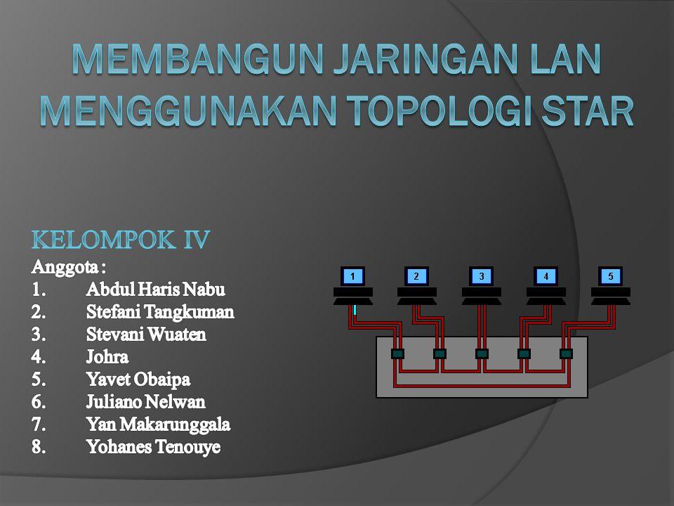 Membangun Jaringan LAN MENGGUNAKAN Topologi STAR