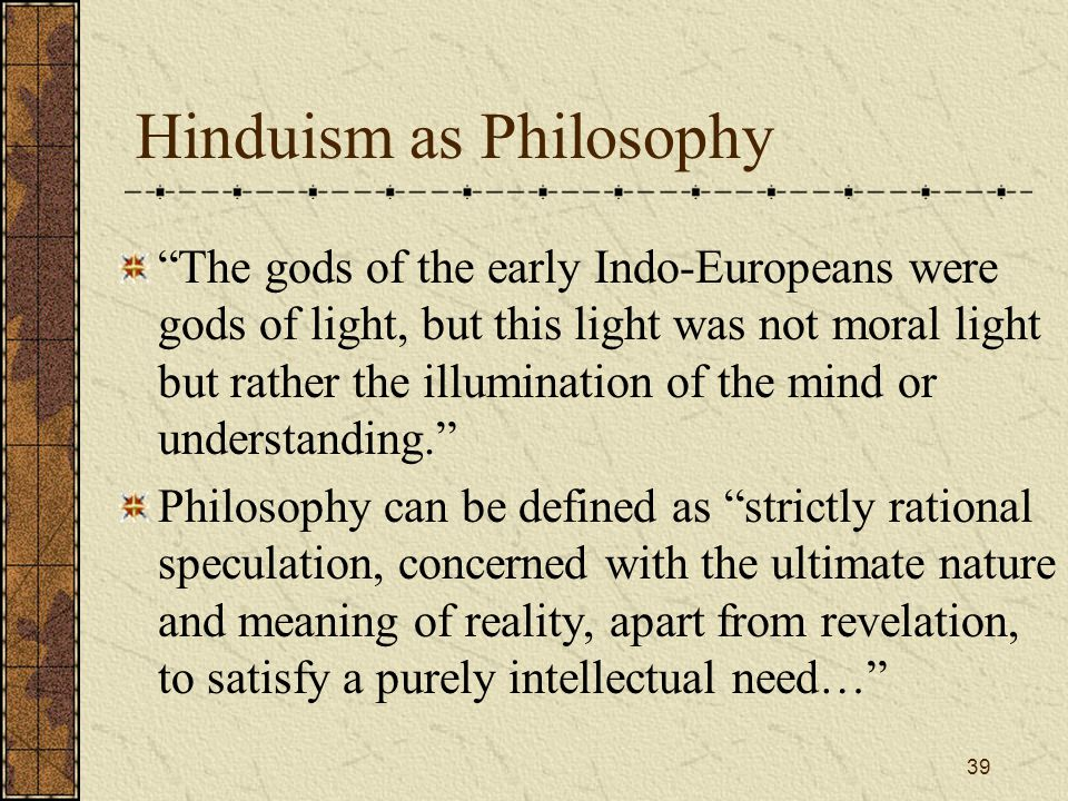 Hinduism as Philosophy