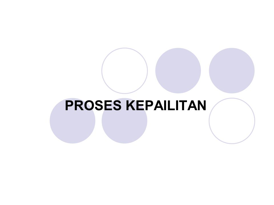 PROSES KEPAILITAN