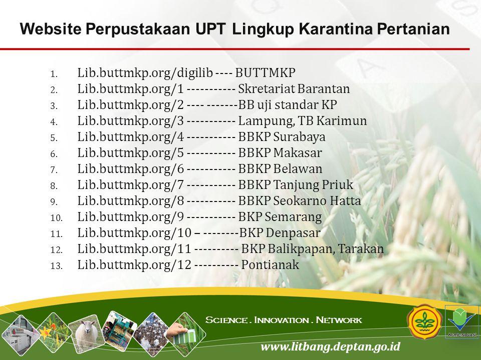 Website Perpustakaan UPT Lingkup Karantina Pertanian