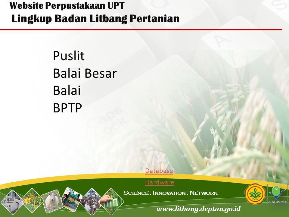Website Perpustakaan UPT Lingkup Badan Litbang Pertanian