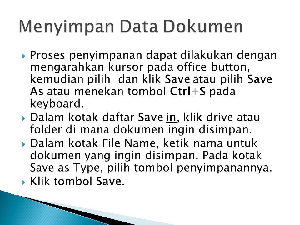 Menyimpan Data Dokumen