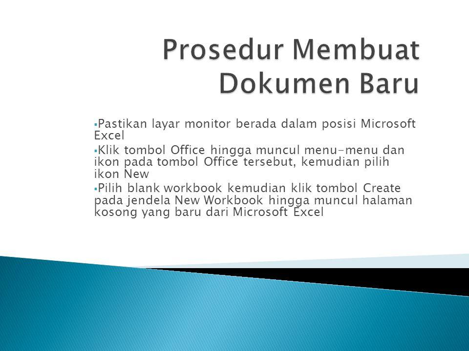 Prosedur Membuat Dokumen Baru