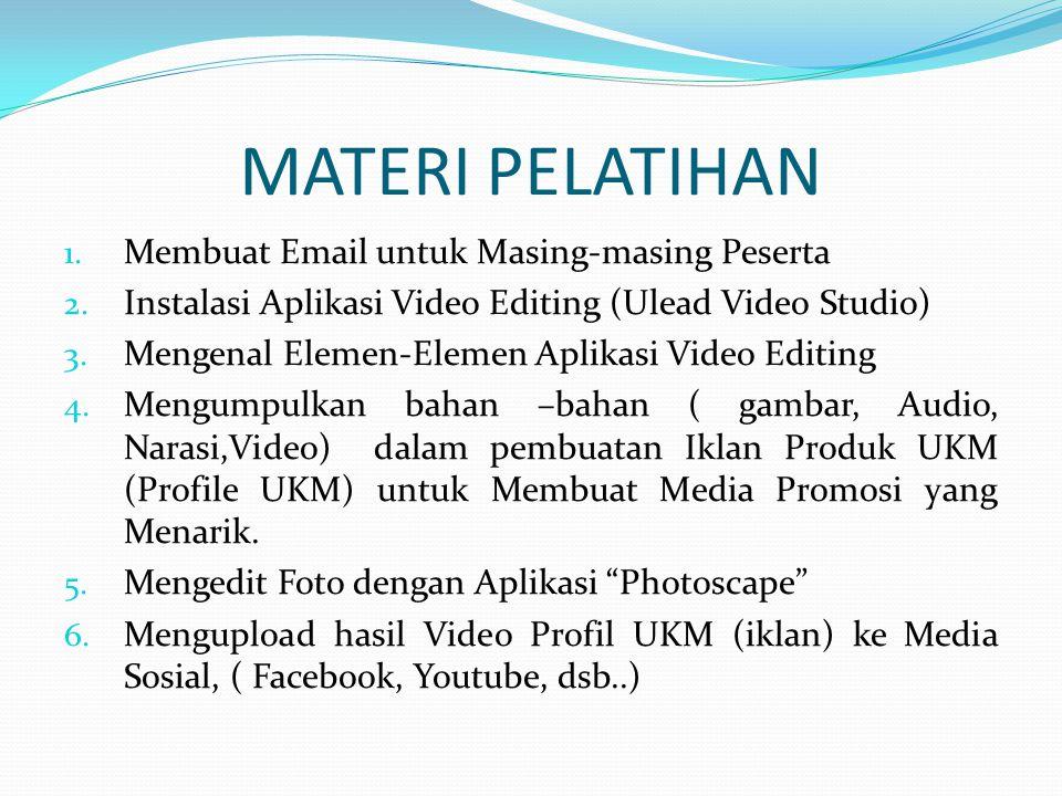 MATERI PELATIHAN Membuat Email untuk Masing-masing Peserta