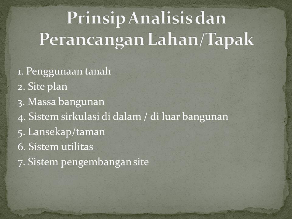 Prinsip Analisis dan Perancangan Lahan/Tapak