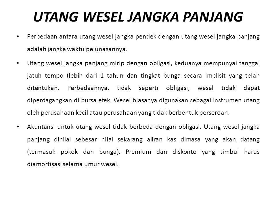 UTANG WESEL JANGKA PANJANG