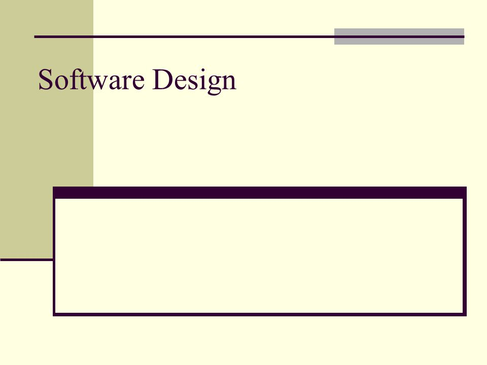 Software Design