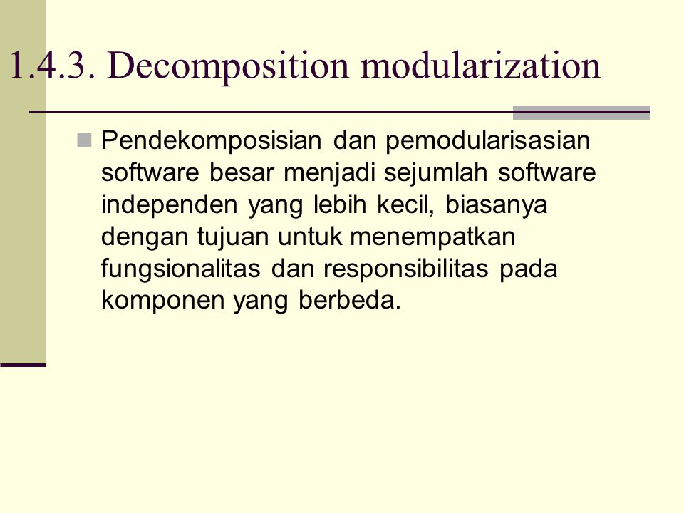 1.4.3. Decomposition modularization