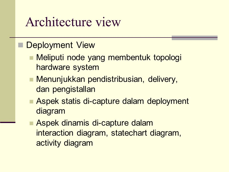 Architecture view Deployment View