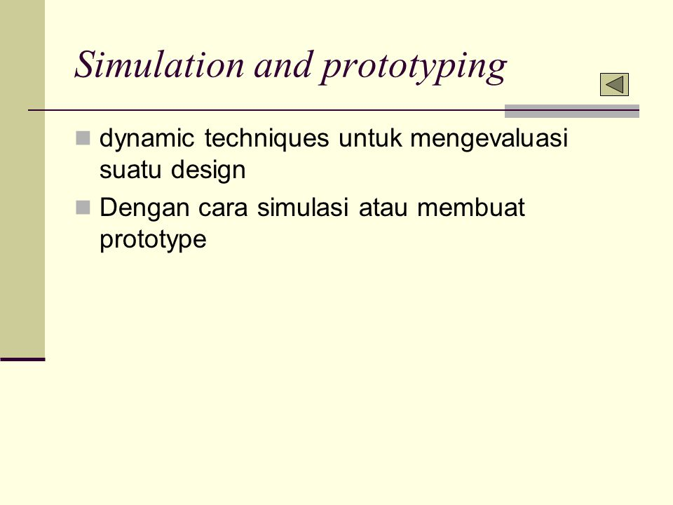 Simulation and prototyping