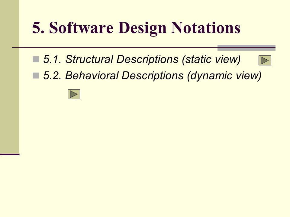 5. Software Design Notations