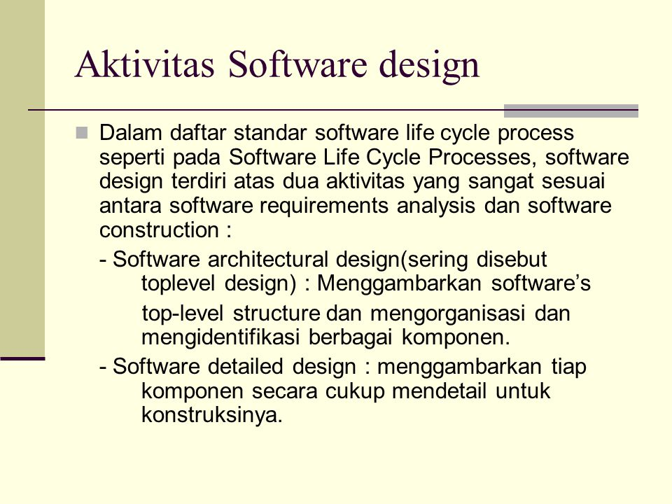 Aktivitas Software design