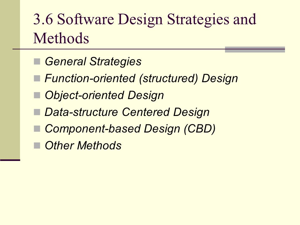 3.6 Software Design Strategies and Methods