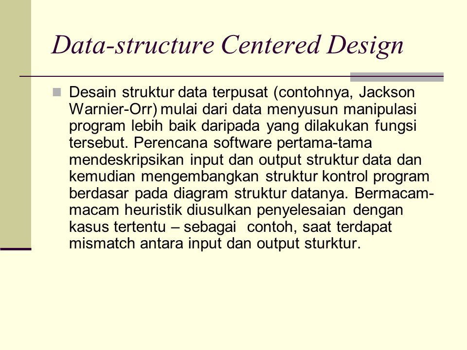 Data-structure Centered Design