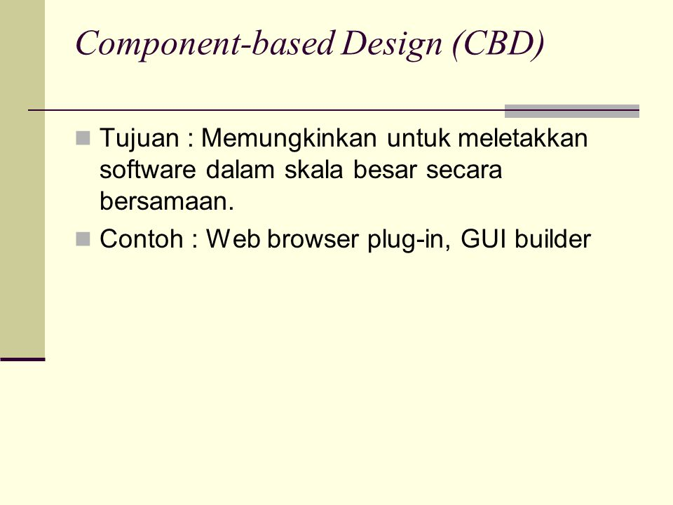 Component-based Design (CBD)