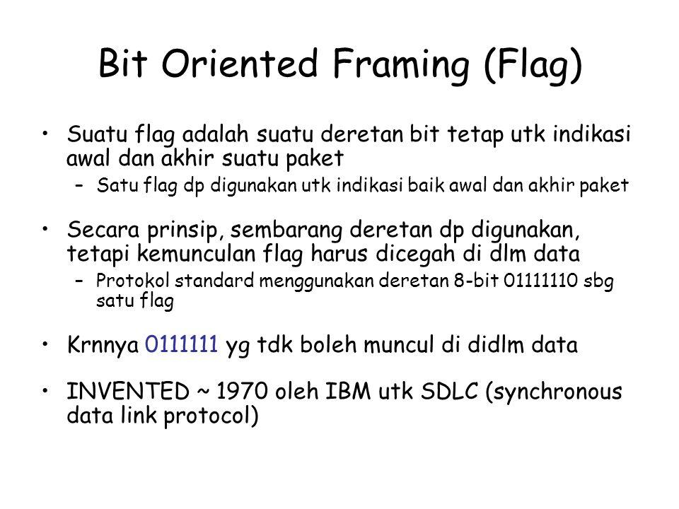 Bit Oriented Framing (Flag)