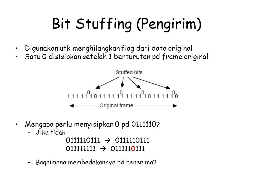 Bit Stuffing (Pengirim)