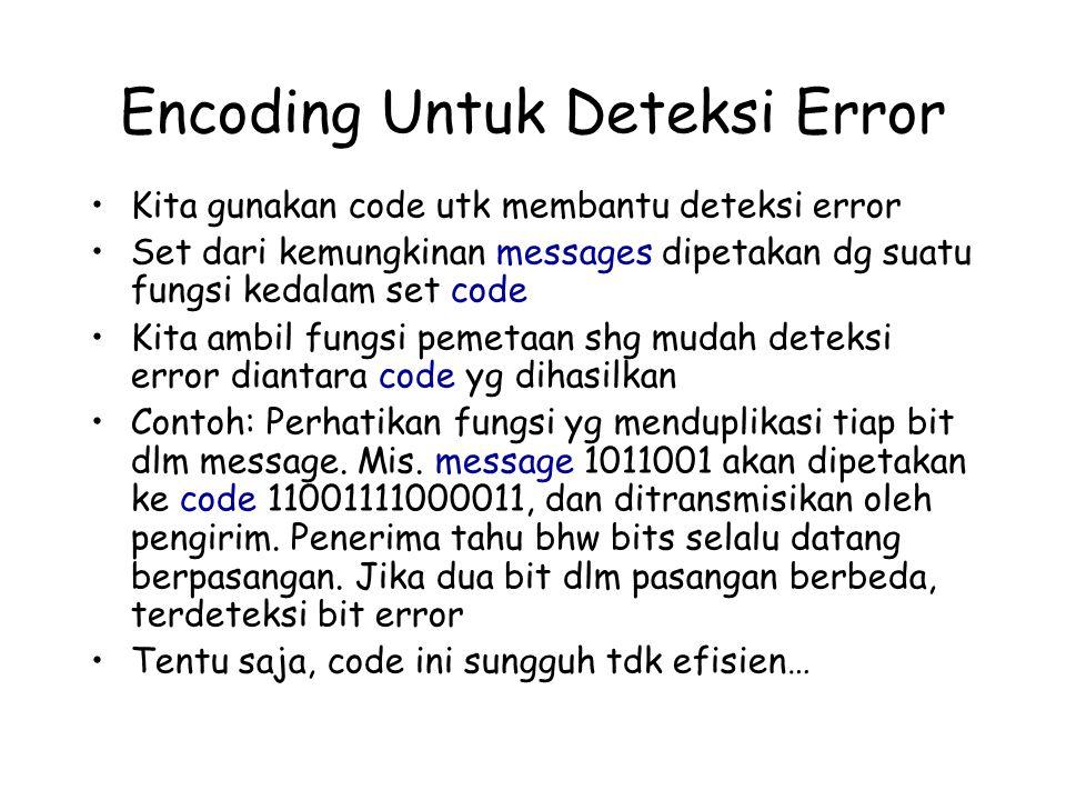 Encoding Untuk Deteksi Error