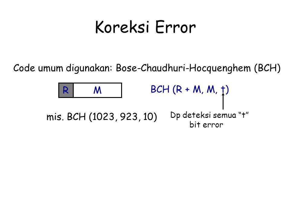 Koreksi Error Code umum digunakan: Bose-Chaudhuri-Hocquenghem (BCH) R