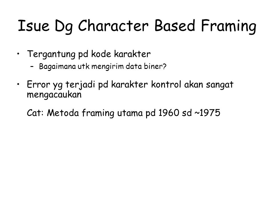 Isue Dg Character Based Framing