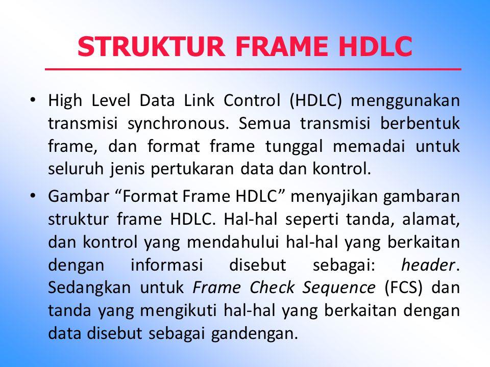 STRUKTUR FRAME HDLC