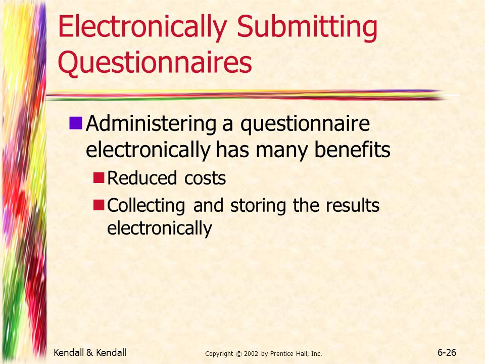 Electronically Submitting Questionnaires