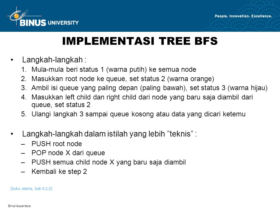 IMPLEMENTASI TREE BFS Langkah-langkah :