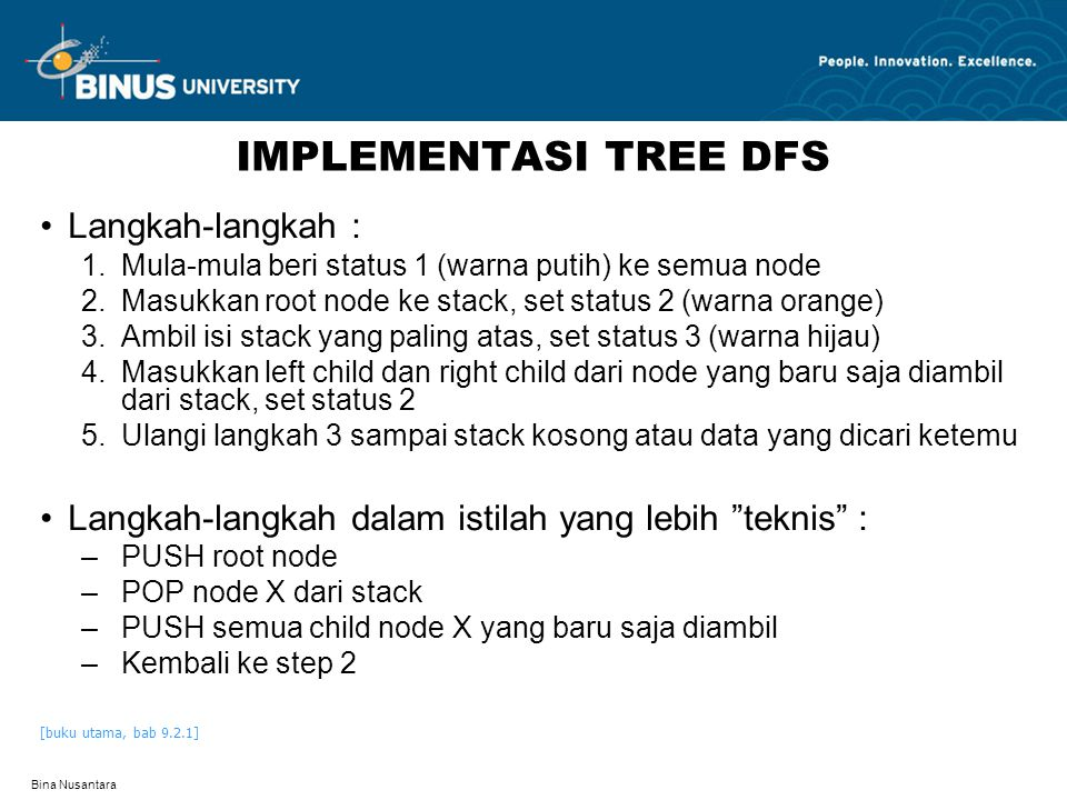 IMPLEMENTASI TREE DFS Langkah-langkah :