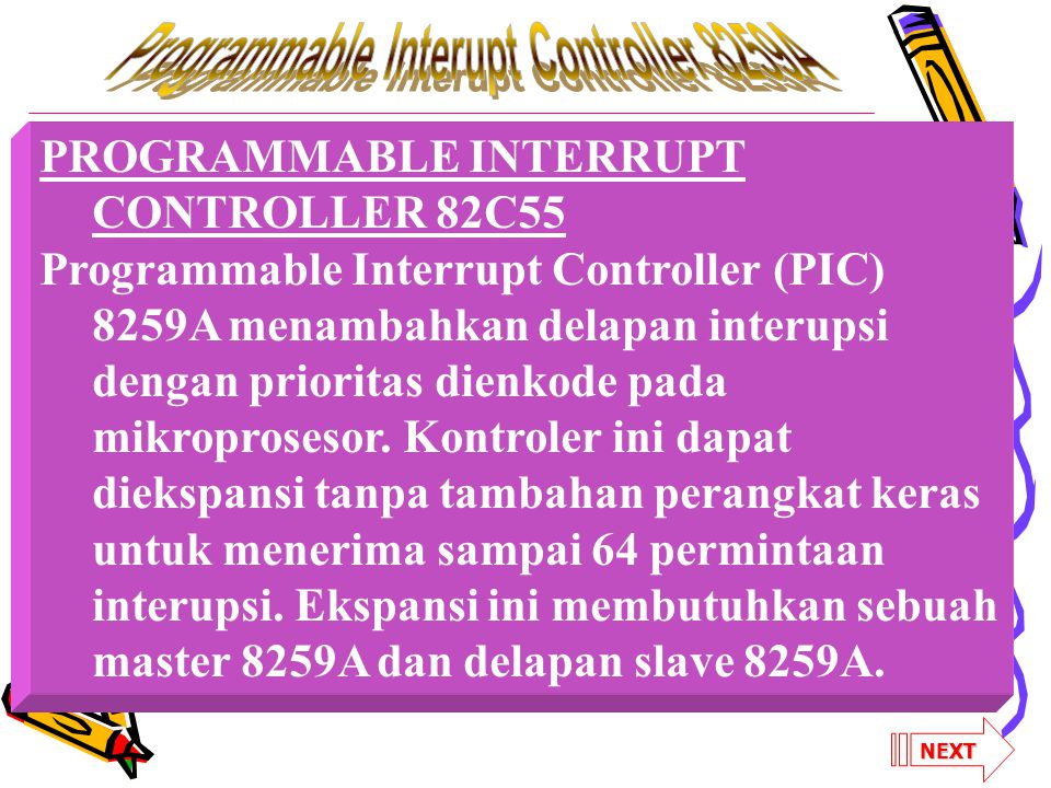 Programmable Interupt Controller 8259A
