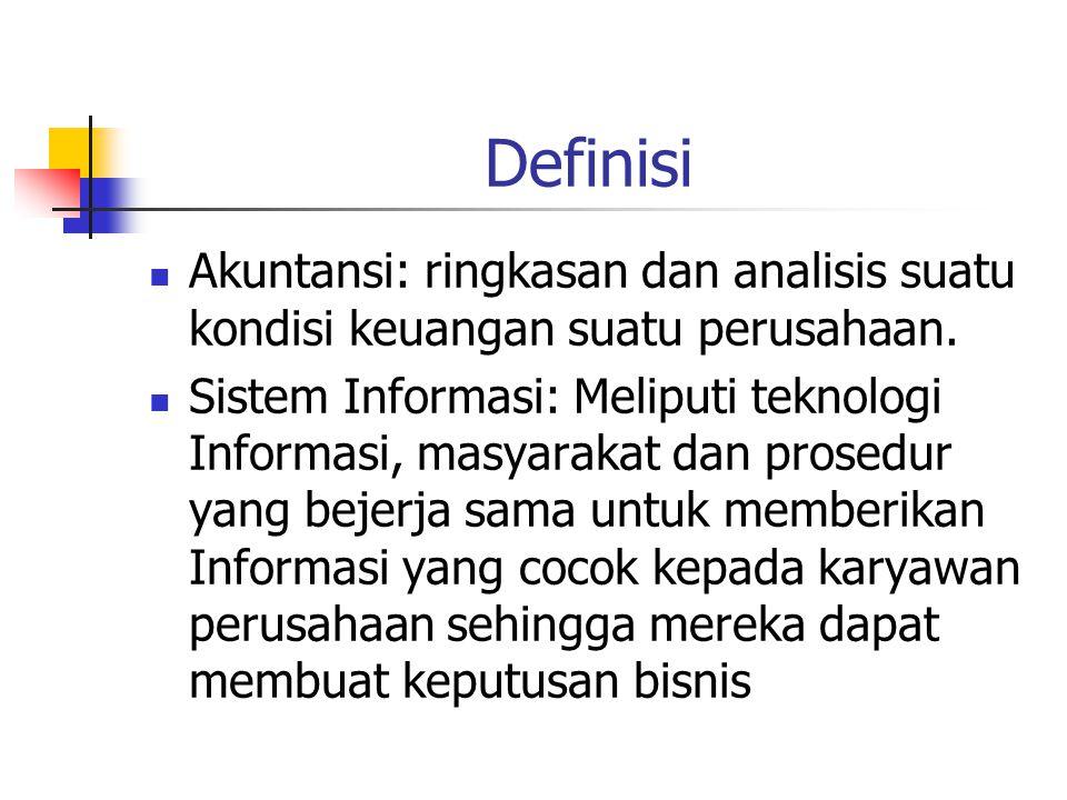 Definisi Akuntansi: ringkasan dan analisis suatu kondisi keuangan suatu perusahaan.