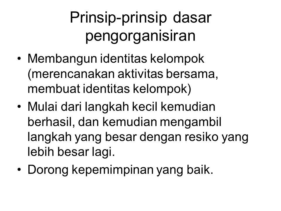 Prinsip-prinsip dasar pengorganisiran