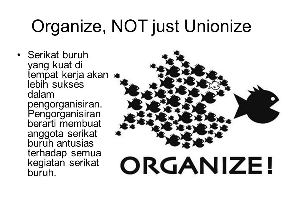 Organize, NOT just Unionize