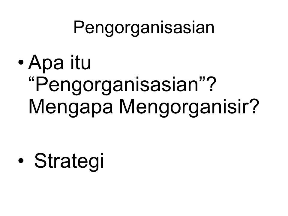 Apa itu Pengorganisasian Mengapa Mengorganisir