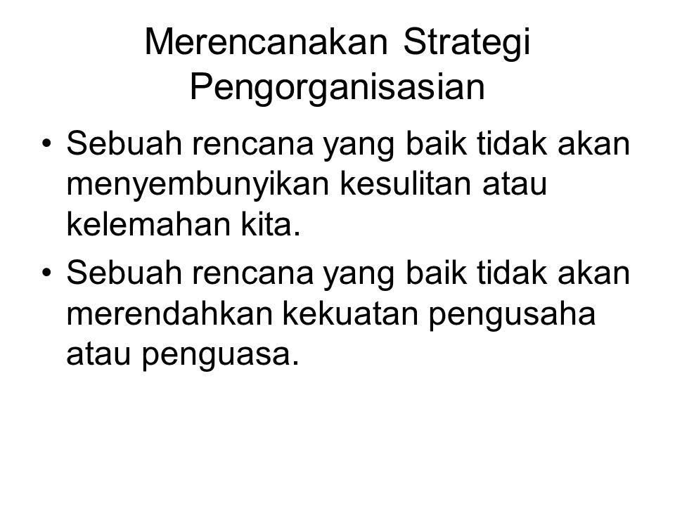 Merencanakan Strategi Pengorganisasian