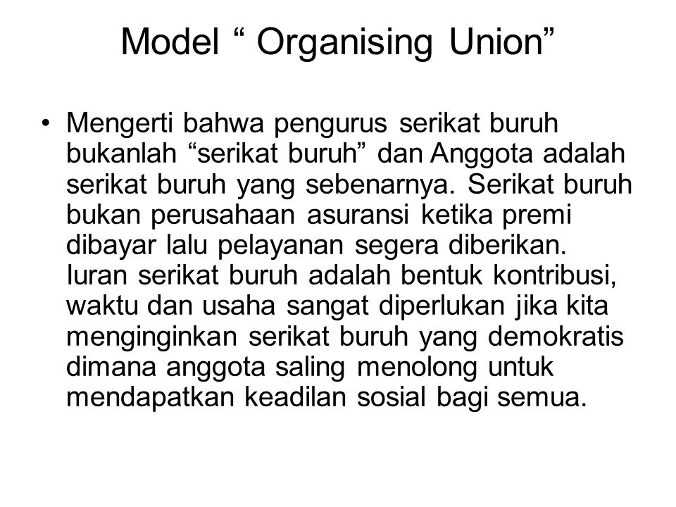 Model Organising Union