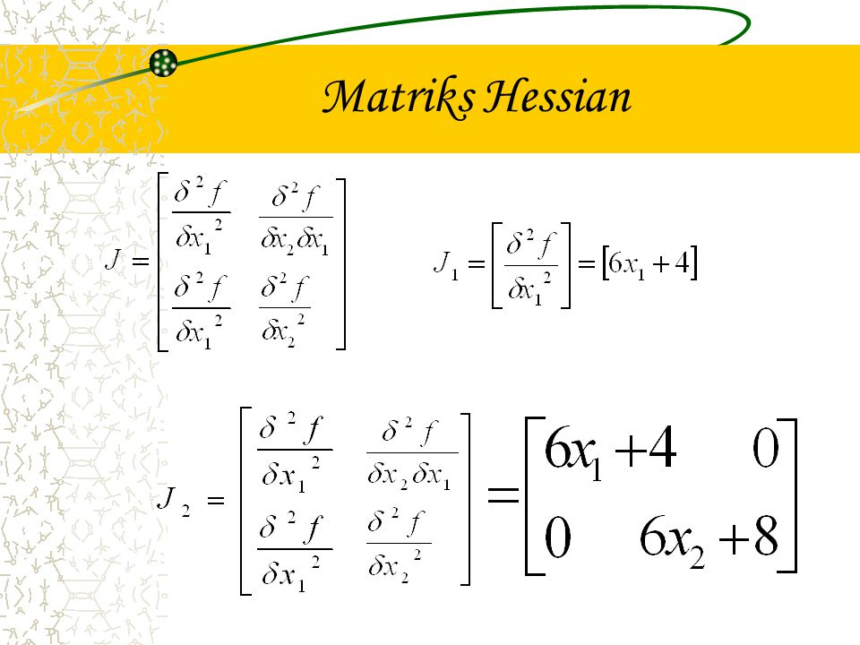 Matriks Hessian