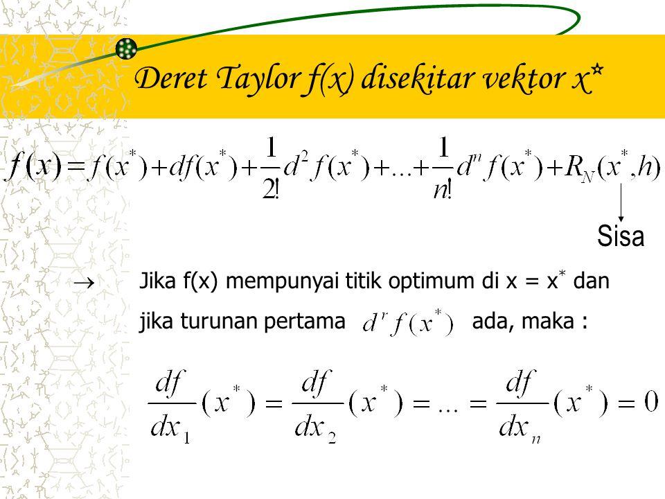 Deret Taylor f(x) disekitar vektor x*