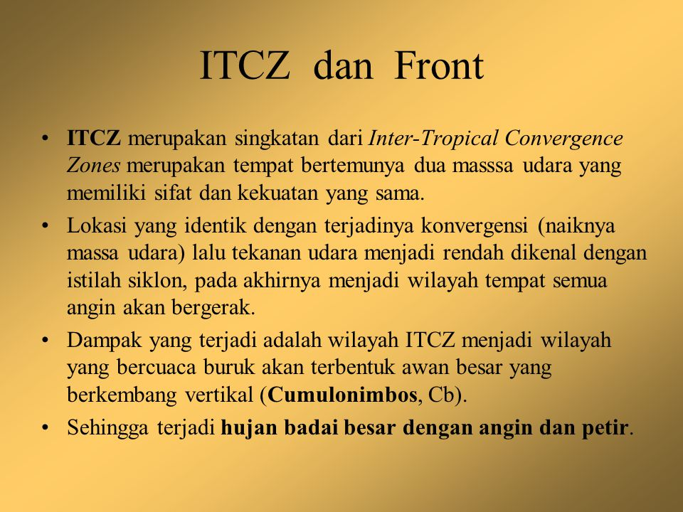 ITCZ dan Front