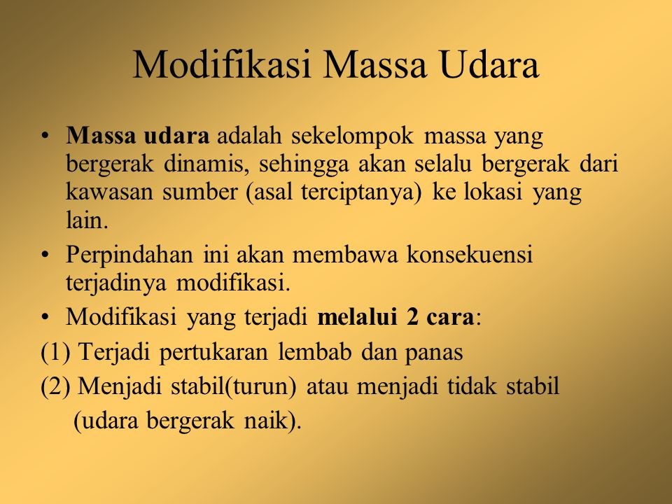 Modifikasi Massa Udara