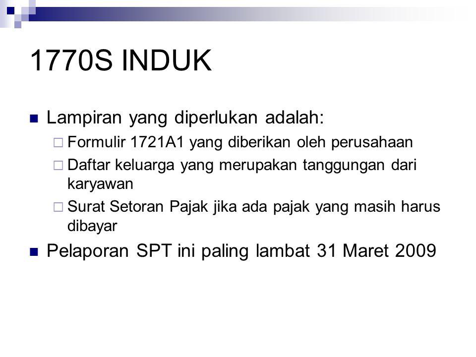 1770S INDUK Lampiran yang diperlukan adalah: