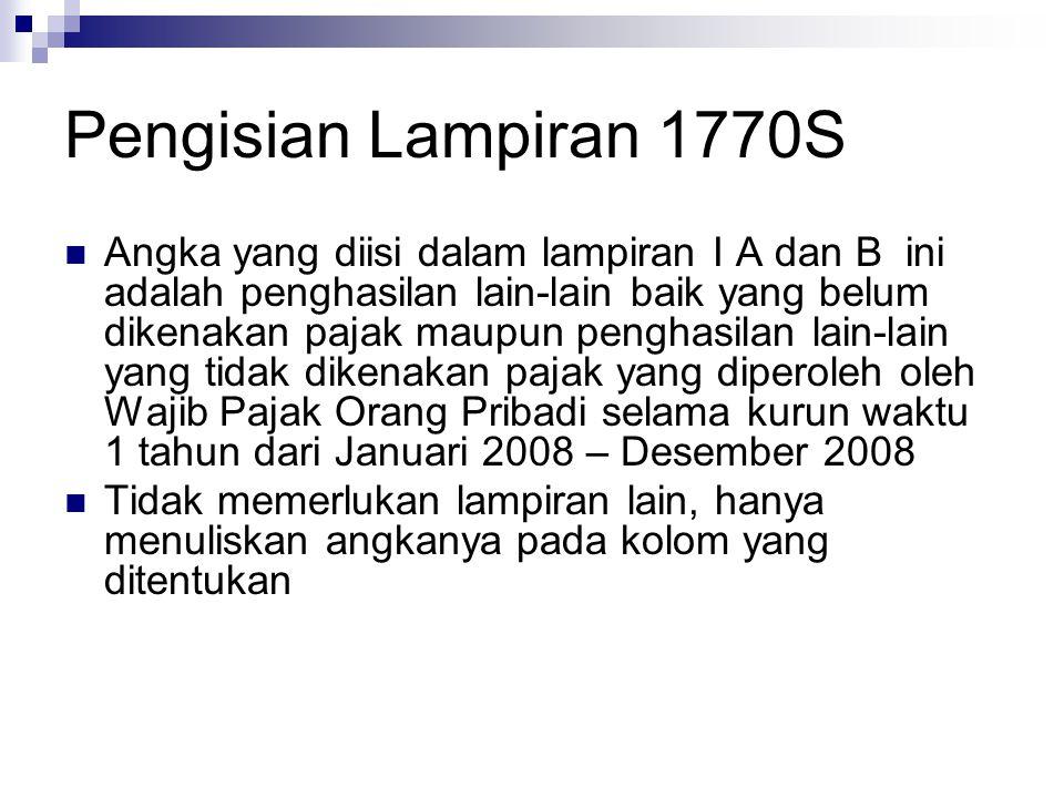 Pengisian Lampiran 1770S