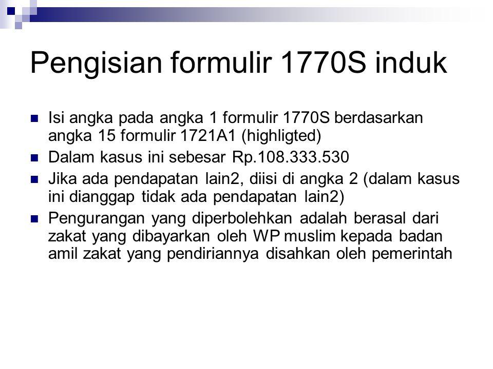 Pengisian formulir 1770S induk