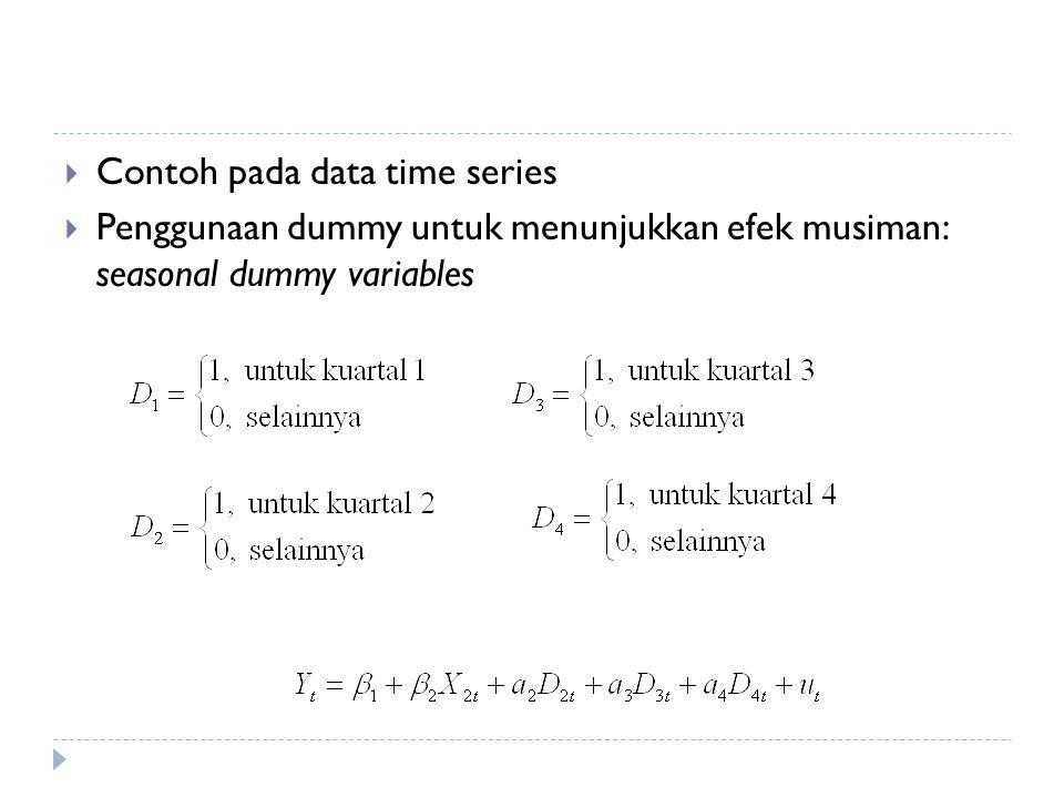 Contoh pada data time series