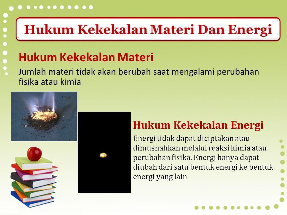 Hukum Kekekalan Materi Dan Energi