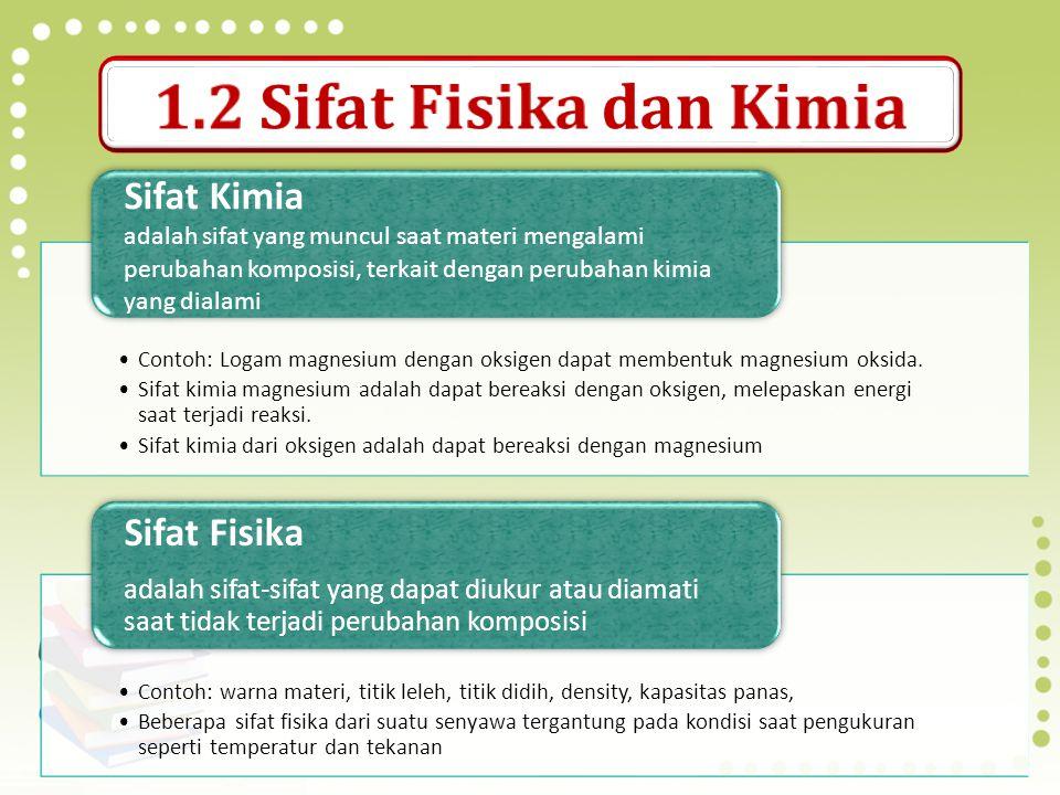 1.2 Sifat Fisika dan Kimia Sifat Kimia Sifat Fisika