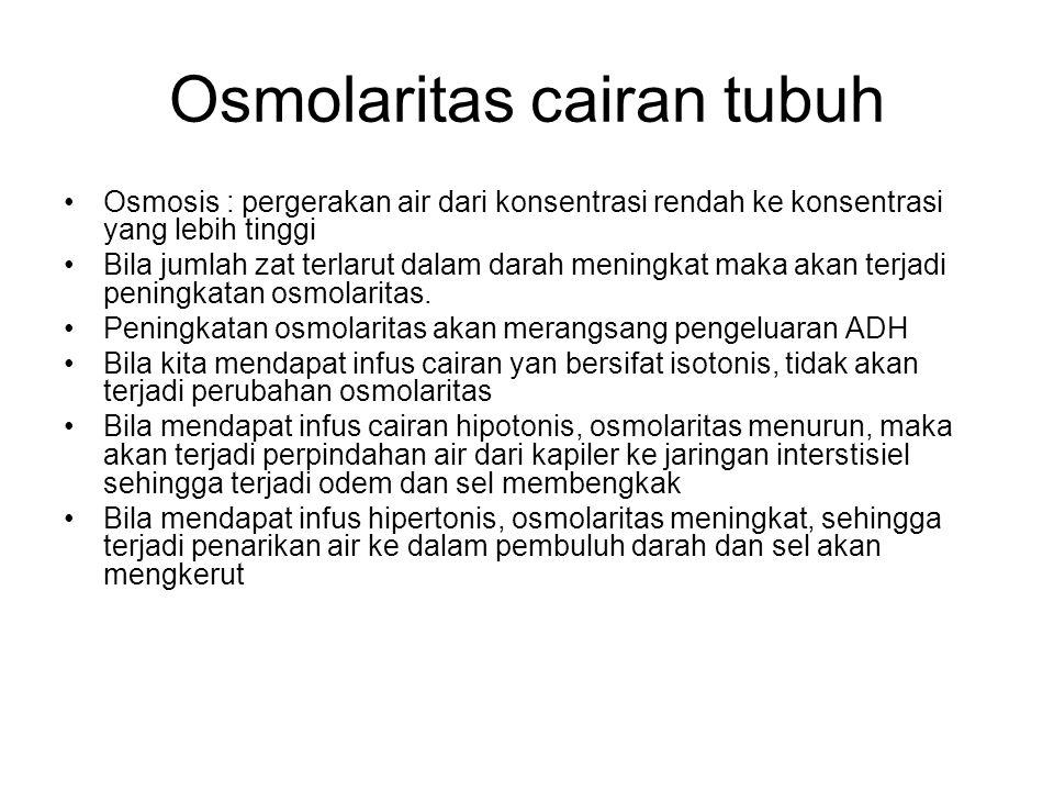 Osmolaritas cairan tubuh