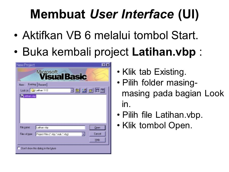 Membuat User Interface (UI)