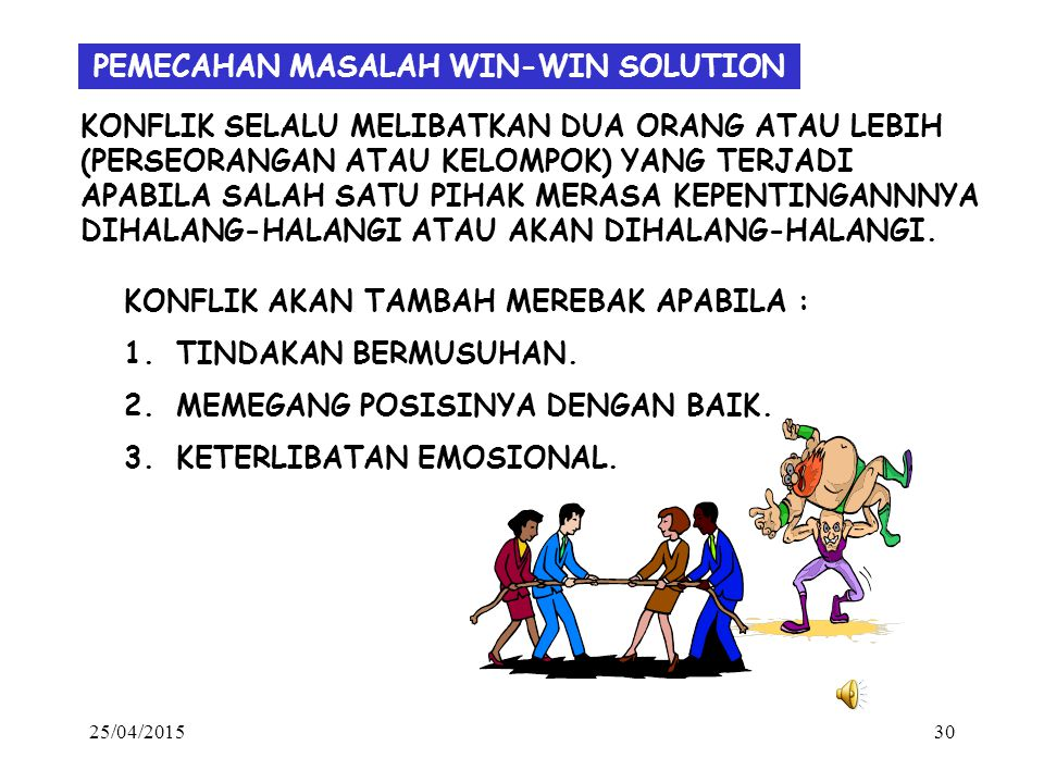 PEMECAHAN MASALAH WIN-WIN SOLUTION