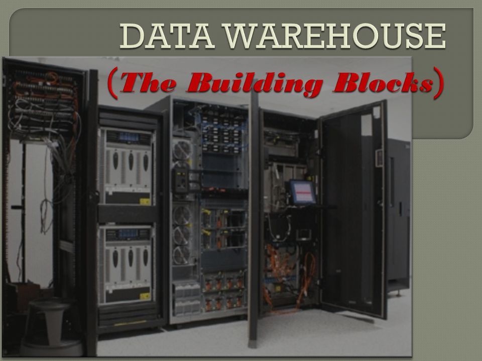 DATA WAREHOUSE (The Building Blocks)